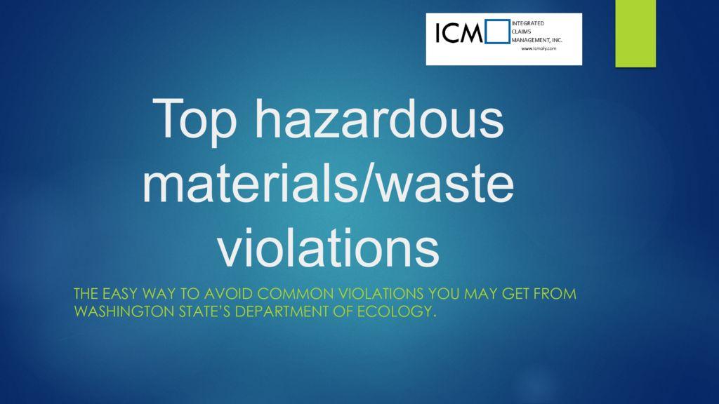 thumbnail of Hazardous Waste 101