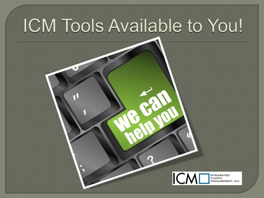 thumbnail of ICM Tools Available to You!