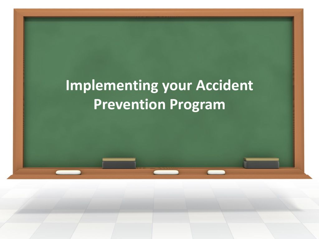 thumbnail of Implementing your Accident Prevention Program