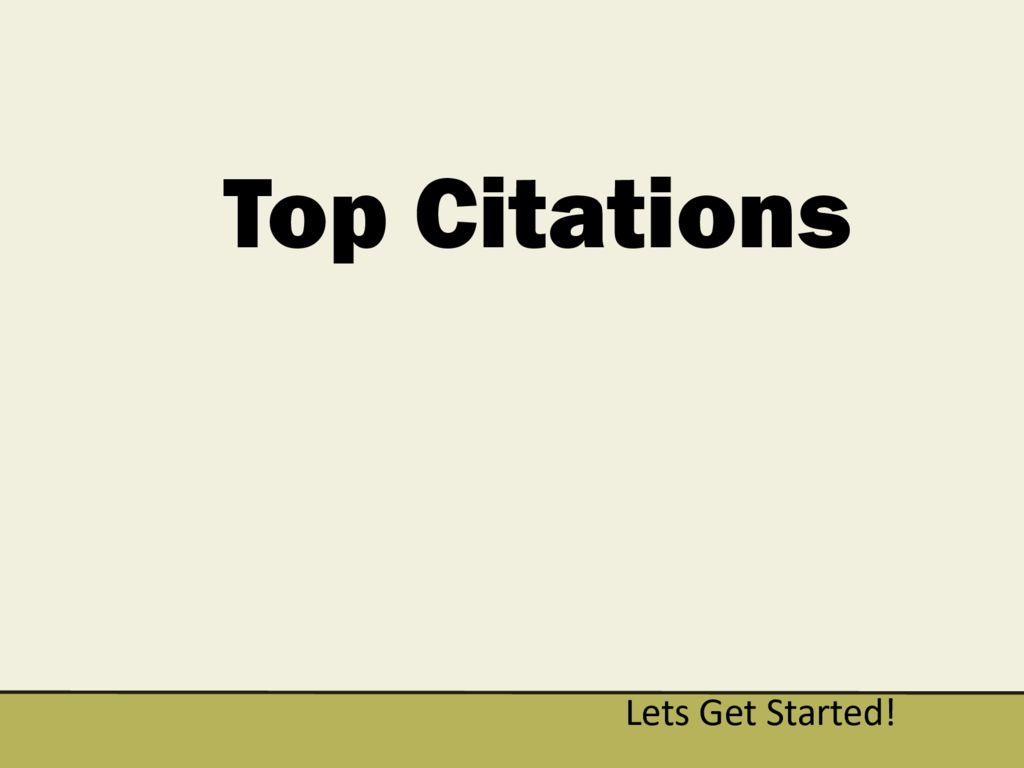 thumbnail of Top Citations General