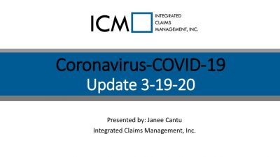 3-19-20 Coronavirus Update – Slide Deck PDF