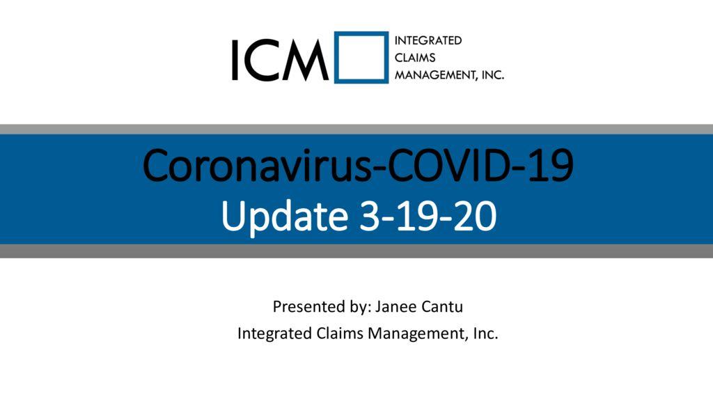 thumbnail of 3-19-20 Coronavirus Update – Slide Deck PDF