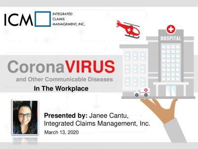 Coronavirus In the Workplace 3-13-20 – Webinar Slides