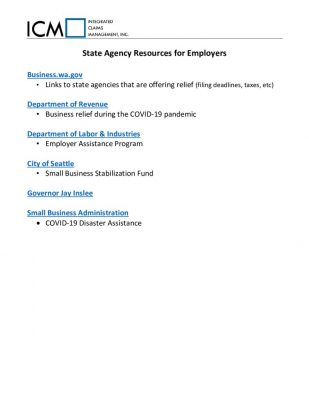 Links to State Agency Resources for Employers