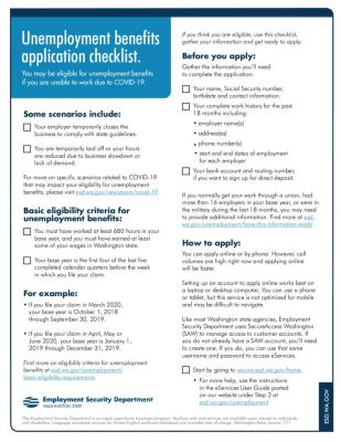 thumbnail of Unemployment Application Checklist